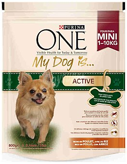 One Purina Comida para perros My Dog is con Pollo y Arroz 800 gr