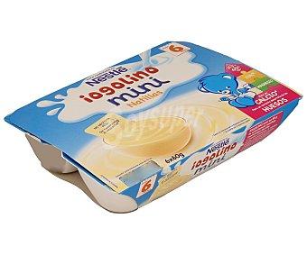 Iogolino Nestlé Mini natillas de vainilla especial para bebés a partir 6 unidades de 60 gramos