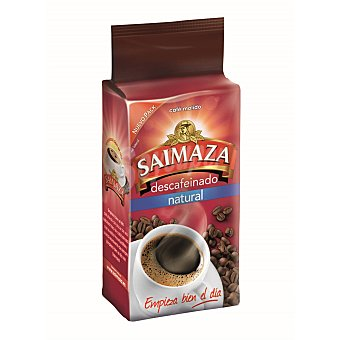 Saimaza Café Descafeinado Molido Natural  Paquete 250 g