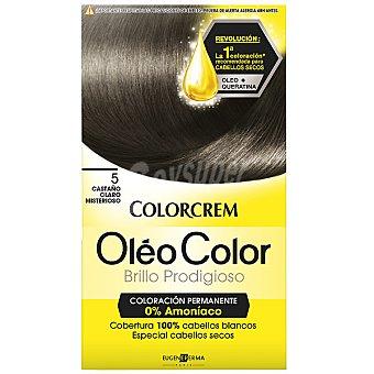 Colorcrem Tinte óleo Color Castaño Claro Misterioso nº 5 coloración permanemte sin amoniaco Caja 1 unidad