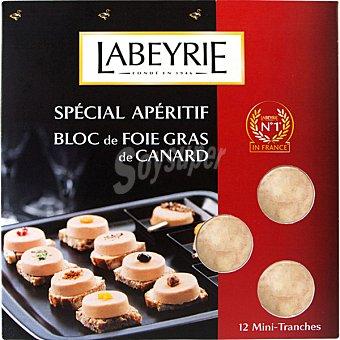 Labeyrie foie gras de pato en mini lonchas  estuche 90 g