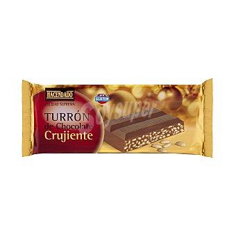 Hacendado Turrón de chocolate crujiente  Pastilla 250 g