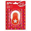 Perforadora Apli - Naranja 1 ud Estrella
