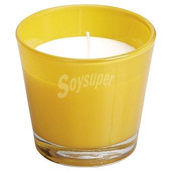 SPAAS Vela Perfumada en vaso cónico en color amarillo ocre