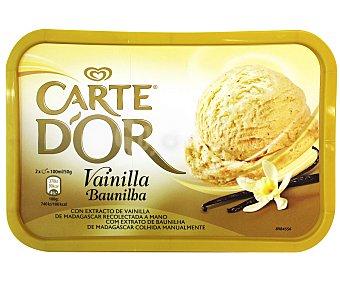 FRIGO CARTE D'OR Helado de vainilla con extracto de vainilla natural de Madagascar Tarrina 1 l