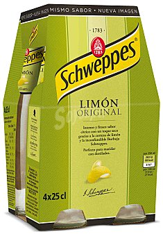 Schweppes Limón con gas spirit Pack de 4x25 cl