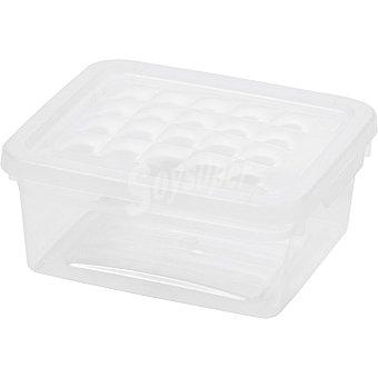 UNIT Textil Line caja de plastico transparente con tapa de 2 l 2 l
