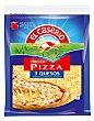 Queso rallado 3 quesos especial para pizza Bolsa 140 gramos El Caserío