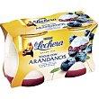 Yogur enriquecido arándanos pack 2x125 gr La Lechera Nestlé