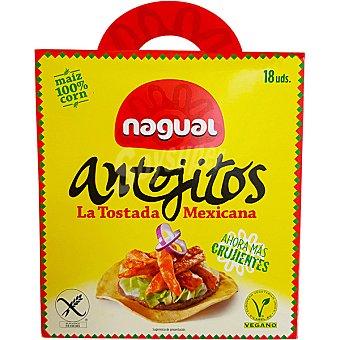 Nagual antojitos tostada mejicana 100% maíz envase 190 g