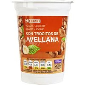 Eroski Yogur con avellana Tarrina 200 g