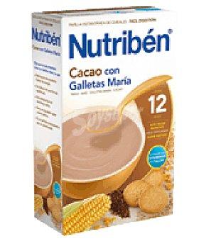 Nutribén Papilla con Cacao y galletas María 600 g