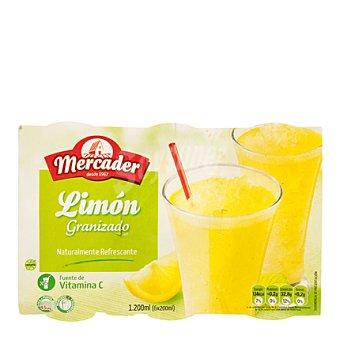 MERCADER Limón granizado Sin Gluten Pack de 6x200 g