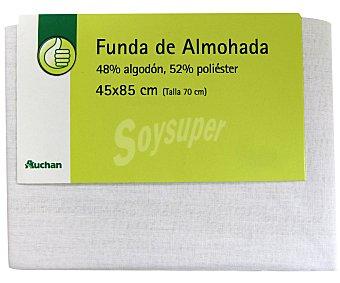Productos Económicos Alcampo Funda de almohada, color blanco, 70 centímetros 1 Unidad