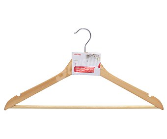 Auchan Percha de madera natural con barra 1 Unidad