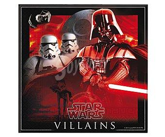 Star Wars Servilletas de papel de doble capa con diseño Star Wars Villanos Pack de 20 unidades