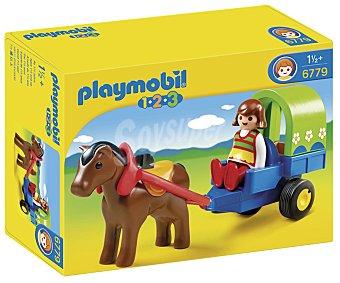 PLAYMOBIL Conjunto de Juego Playset Carrito con Poni, Modelo 6779 1 Unidad