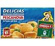 Delicias de merluza rebozadas estuche 250 g 12 unidades Pescanova