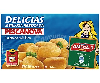 Pescanova Delicias de merluza rebozadas estuche 250 g 12 unidades