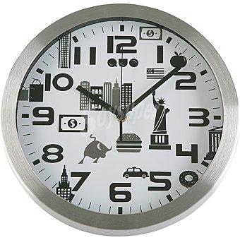 QUO Reloj de pared redondo 30 cm de New York