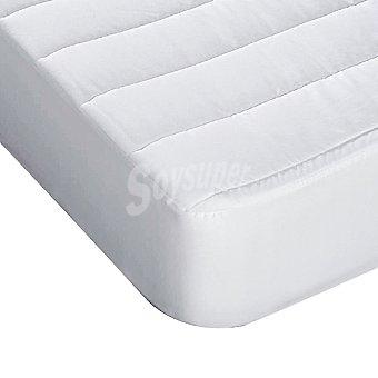 CASACTUAL Newalba Protector de rizo acolchado transpirable blanco para cama de 105 cm