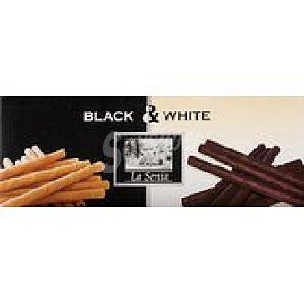 La Senia Neulas de chocolate blanco-negro Caja 95 g