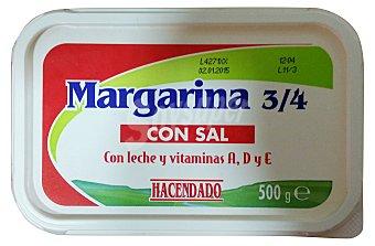 Hacendado Margarina vegetal con sal (leche, vitamina a+d+e) Tarrina 500 g