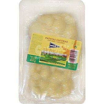 HIPERCOR patatas enteras cocidas y peladas envase 450 g