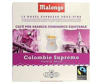 Malongo Café monodosis colombia 12 uds