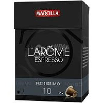 L'Arôme Espresso Marcilla Cápsulas Fortissimo 70u