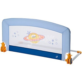HAPPY DAY 1602 Space barrera de cama abatible y desmontable en color azul 90 cm