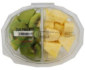 Frujuca Tarrina de piña y kiwi troceado 400 g