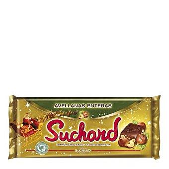 Suchard Turrón crujiente de chocolate con avellanas enteras 285 g