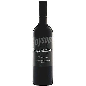 Alconde Vino tinto selección garnacha reserva Botella 75 cl