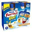 Petit suisse líquido fresa y plátano 4 unidades de 80 g Fruttolo Nestlé
