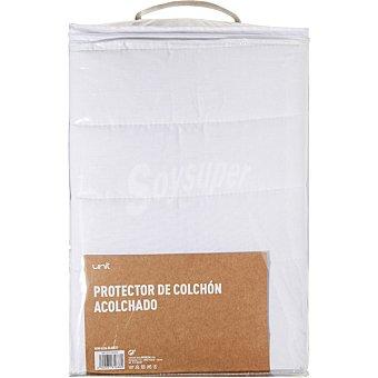 CASACTUAL Newalba protector de rizo acolchado transpirable blanco para cama de 150 cm