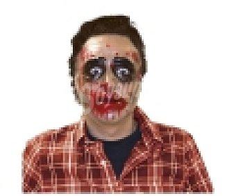 ZOMBIES Máscara Haloween transparente Hombre Zombie, 1 unidad