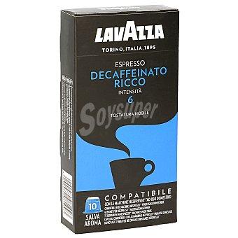 Lavazza Espresso descafeinado 10 cápsulas caja 50 gr caja 50 gr