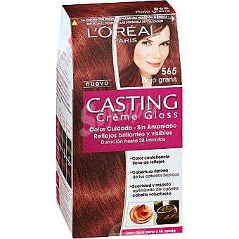 Casting Crème Gloss L'Oréal Paris Tinte rojo grana nº 565 caja 1 unidad