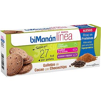 BIMANAN LINEA Mi Tentempié Galletas de cacao con chocochips Envase 150 g