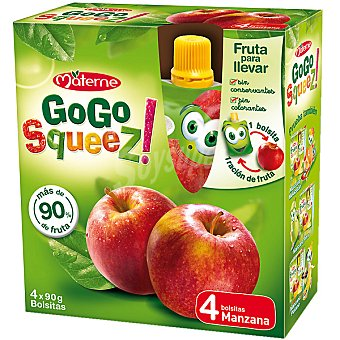 Gogo Squeez Zumo Manzana Pack de 4x90 g