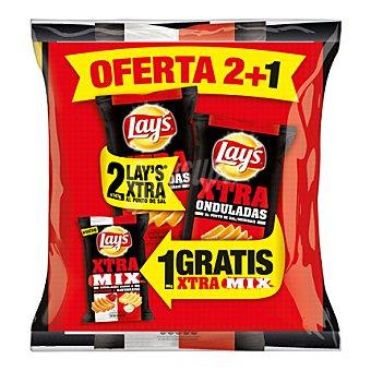 Lay's 2 Patatas Xtra al punto de sal 147 g. + 1 patatas Xtra ketchup y mayonesa 86 g. 1 ud