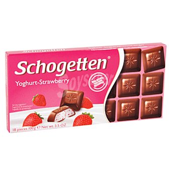 SCHOGETTEN Yoghurt strawberry Tableta 100 gr
