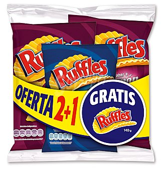 Ruffles Lote 2 jamon+ 1SAL 480 GRS
