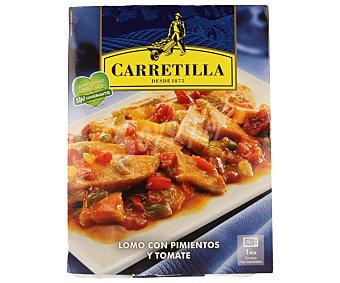 Carretilla Lomo con pimientos y tomate 250 gramos