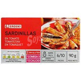 Eroski Sardinilla en salsa de tomate Lata 90 g