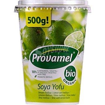 PROVAMEL Bio Postre de soja sabor limón con melisa 100% vegetal ecológico envase 500 g Envase 500 g