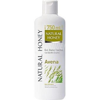 Natural Honey Gel de baño de avena hidrata y reafirma la piel Bote 750 ml
