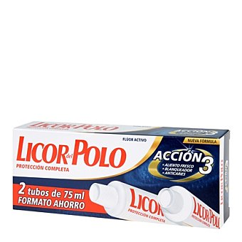Licor del Polo Dentífrico Protección Completa Pack 2x75 ml
