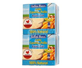 Gallina Blanca Caldo casero de pollo bajo en sal Pack 2x50 cl